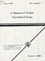 A measure of outdoor recreational usage