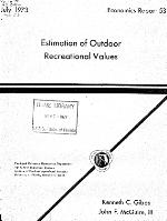 Estimation of outdoor recreational values