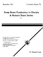 Snap bean production in Florida