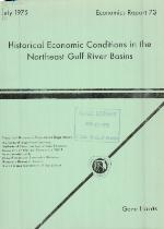 Historical economic conditions in the Northeast Gulf River basins