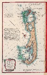 A new & accurate map of Bermudas or Sommer's islands, taken from an actual survey