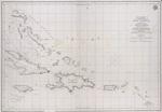 Carta esferica que comprehende una parte de las Islas Antillas las de Puerto Rico, Santo Domingo, Jamayca y Cuba con los bancos y canales adyacentes