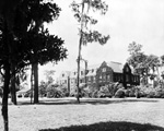 View of Floyd Hall from a distance.