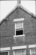 Details of windows on Anderson Hall on the campus of the University of Florida.
