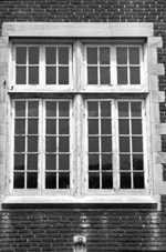 Architectural details on a window on Anderson Hall on the campus of the University of Florida.