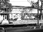 1955 University of Florida Homecoming decorations on a fraternity house.
