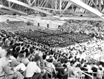 Graduation at the University of Florida in Florida Gym.