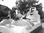 1957 Homecoming Queen parade float