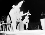 1961 Gator Growl skit at the Homecoming pep rally at the University of Florida.