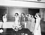 4-H members salute each other at a short course