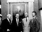 Unveiling of portrait of President J. Hillis Miller on Oct.13, 1956.