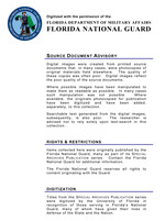 Summary statistics, Florida Army, Navy, Marine Corps, Coast Guard, World War I