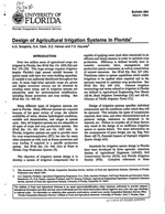 Design of agricultural irrigation systems in Florida