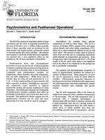 Psychrometrics and postharvest operations