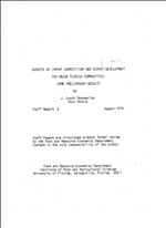 Aspects of import competition and export development for major Florida commodities