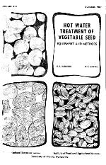 Hot water treatment of vegetable seed. Equipment and methods.