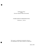 Organization study of the Executive branch of State Government