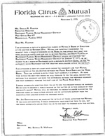 Letter from Florida Citrus Mutual to SWFWMD