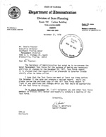Letter advising of reconvening the Water Management Task Force