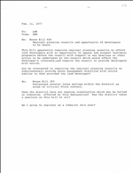 Memo re HB 608. Regional planning councils and opportunity of developers to be heard