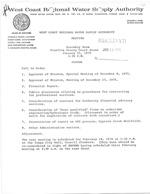 WCRWSA Agenda and Minutes of Meeting