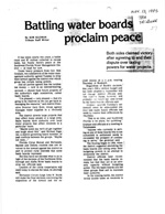 Battling water boards proclaim peace