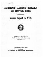 Tropical soils research program, annual report
