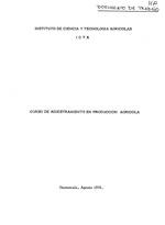 Curso de adiestramiento en produccion agricola