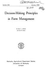 Decision-making principles in farm management
