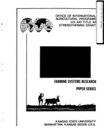 A farming systems research bibliography of Kansas State University's vertical file materials (1982 cumulation)