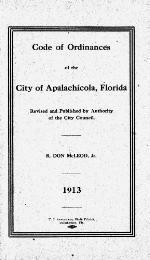 Code of ordinances of the city of Apalachicola, Florida