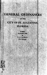 General ordinances of the city of St. Augustine, Florida
