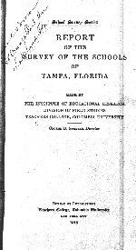 Report of the survey of the schools of Tampa, Florida
