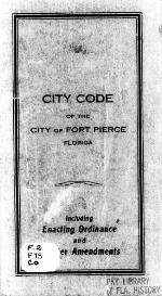 City code of the city of Fort Pierce, Florida