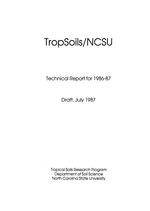 TropSoils technical report