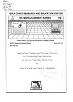 Application volumes and wetting patterns for scheduling drip irrigation in Florida vegetable production