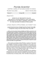 Effects of the exotic plants melaleuca quinquenervia and casuarina equisetifolia on small mammal populations in the Eastern Florida Everglades