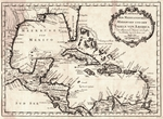 Karte von dem Mexicanischen Meerbusen und dem Inseln von America