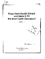 Keep herd health simple and make it fit the beef cattle operation!