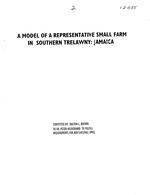 A model of a representative small farm in southern Trelawny, Jamaica