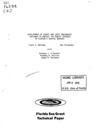 Development of county and local ordinances designed to protect the public interest in Florida's coastal beaches