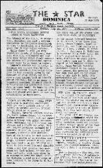 Star (Roseau, Dominica). July 15, 1977.