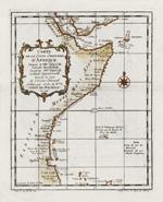 Carte de la coste orientale d'Afrique