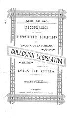 Coleccion legislativa de la isla de Cuba