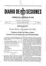 Diario de sesiones del Congreso de la República de Cuba
