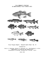 Fish community structure in some naturally acid Florida lakes