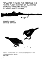 Population analysis and roosting- and feeding-flock behavior of blackbirds damaging sprouting rice in Southeastern Louisiana