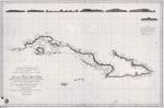 Carta esferica que comprende la costa meridional, parte de la setentrional e yslas adyacentes de la isla de Cuba
