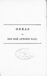 Obras de don Jose Antonio Saco