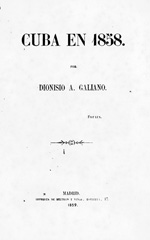 Cuba en 1858